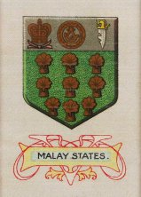 Cigarette Card Silk Flag of Malay States. Circa 1900. 2 x 3 inches. [MISCp4746]