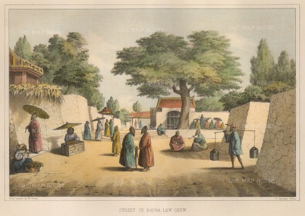 Perry: Okinawa. 1856. A hand-coloured original antique lithograph[SEASp1177]