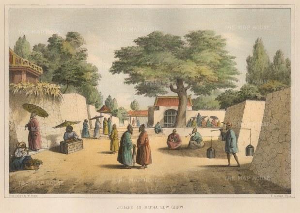 Perry: Okinawa. 1856. A hand-coloured original antique lithograph[SEASp1177]