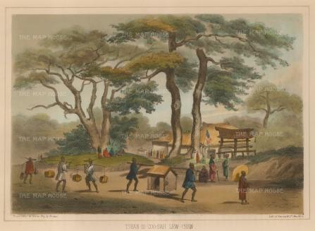 Perry: Okinawa. 1856. A hand-coloured original antique lithograph. 10 x 7 inches. [SEASp1237]