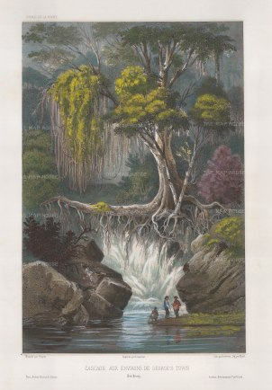 Vaillant: Penang Island. Circa 1850. A hand-coloured original antique lithograph. 10 x 15 inches [SEASp1301]