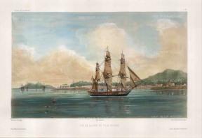 Vaillant: Penang Island. Circa 1850. A hand-coloured original antique lithograph. 10 x 15 inches [SEASp1325]