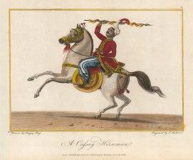 Cassay (Manipuri) Horseman drawn by Singey Bey, the Bengali artist who accompanied Symes.