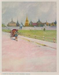 Bangkok: Corner of the Grand Palace Enclosure.
