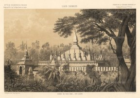 The Illustrated London News: Laos. 1873. A hand-coloured original antique lithograph. 20 x 16 inches [SEASp1573]