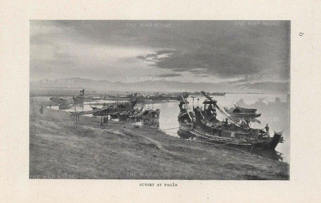 O'Connor: Bagan 1907. An original antique photo-lithograph. 6 x 5 inches. [SEASp1585]