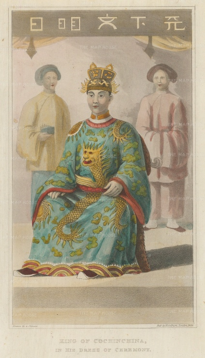 King of Cochinchina in ceremonial dress.