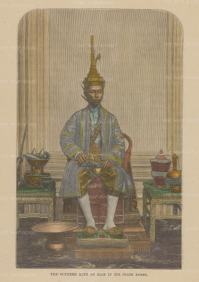 King Mongkut (Rama IV): King of Siam in his state robes.