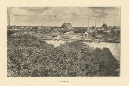 Bangkok: Panoramic view over the city.
