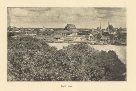 "Clifford: Bangkok. 1905. An original antique photolithograph. 6"" x 4"". [SEASp1659]"
