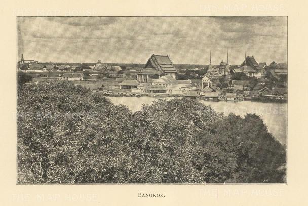 """Clifford: Bangkok. 1905. An original antique photolithograph. 6"""" x 4"""". [SEASp1659]"""