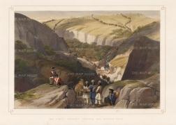 Atkinson: Khojak Pass. 1842. A hand-coloured original antique lithograph. 17 x 12 inches. [AFGp137]