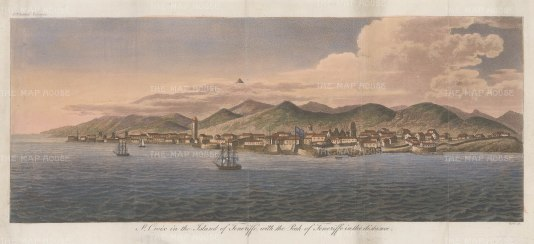 St. Croix, Canary Islands: View of St Croix with the peak of Teneriffe in the distance.