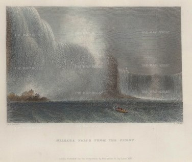 Bartlett: Niagara Falls. 1837. A hand-coloured original antique steel-engraving. 8 x 6 inches. [CANp553]