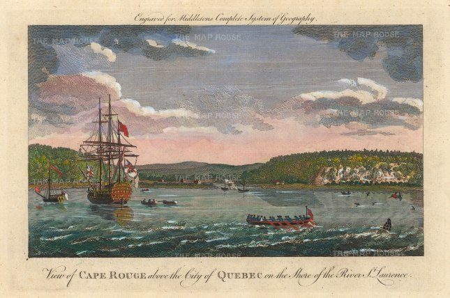 Cape Rouge on the site of Charlesbourg-Royal on the St Lawrence river.