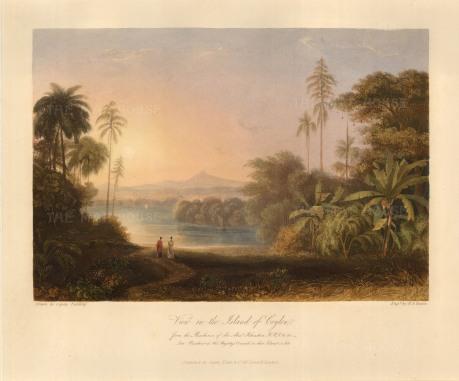 Grindlay: Sri Lanka. 1826. A hand-coloured original steel-engraving. INDp1210] SOLD