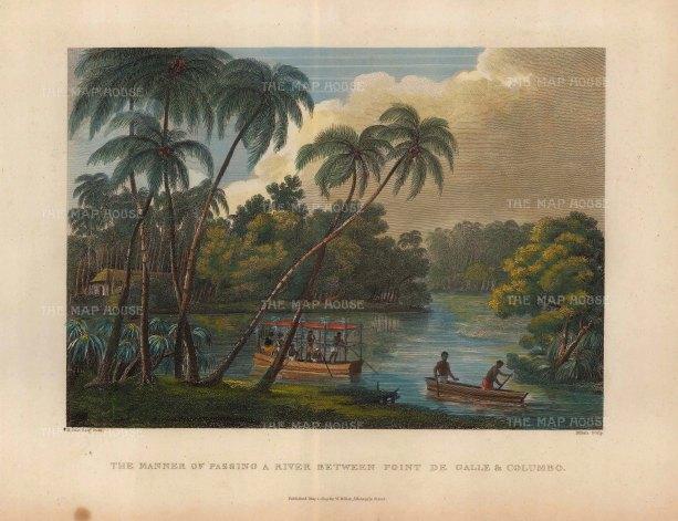 Salt: Sri Lanka. 1809. A hand-coloured original steel-engraving. 10 x 8 inches. [INDp1243]