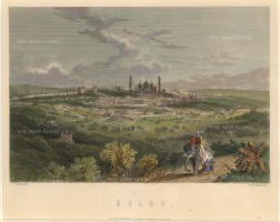 Mackenzie: Delhi. Circa 1840. A hand-coloured original antique steel-engraving. [INDp1353] SOLD