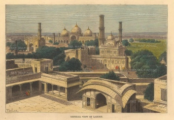 Lahore: View over the city.