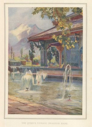 Villiers-Stuart: Lahore. 1918. An original antique chromo-lithograph. 5 x 6 inches. [INDp1419]