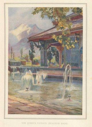 Villiers-Stuart: Lahore. 1918. An original antique chromo-lithograph. 5 x 6 inches. [INDp1419]