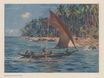 Cingalese Sailing canoe.