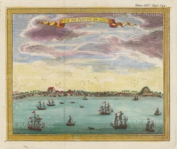Point de Galle: Panoramic view from the Laccadive sea.