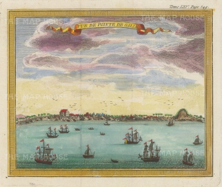 Point de Galle (Galle): Panoramic view from the Laccadive sea.