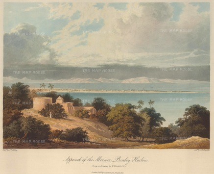 Grindlay: Mumbai. 1826. An original antique aquatint. 13 x 10 inches. [INDp794]