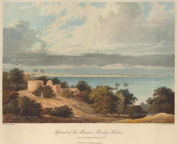 Grindlay: Mumbai. 1826. An original antique aquatint. 13 x 10 inches. [INDp794]