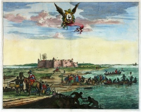 Natal: Rio Grande do Norte: Citadel at the mouth of the Potenji River. With the arms of Northeastern Dutch Brazil and a key in Latin