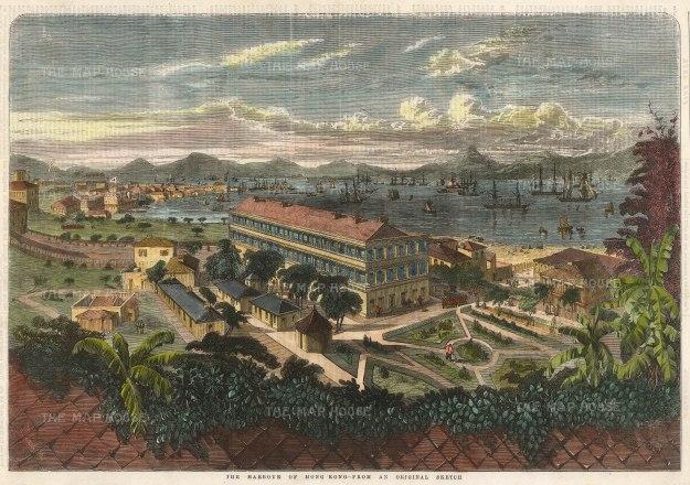 Panoramic view towards Victoria Harbour.