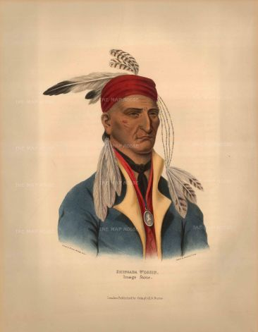 Chief Shingaba Wossin (Image Stone) of the Objibwa. Enlisted with the British in the War of 1812.