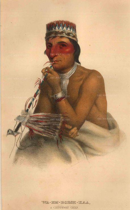 Wa-Em-Boesh-Kaa, a Chippewa Chief.