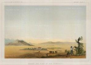 """U.S.P.R.R. Exp.: San Fernando, California.1857. A hand coloured original antique lithograph. 10"""" x 7"""". [USAp3530]"""