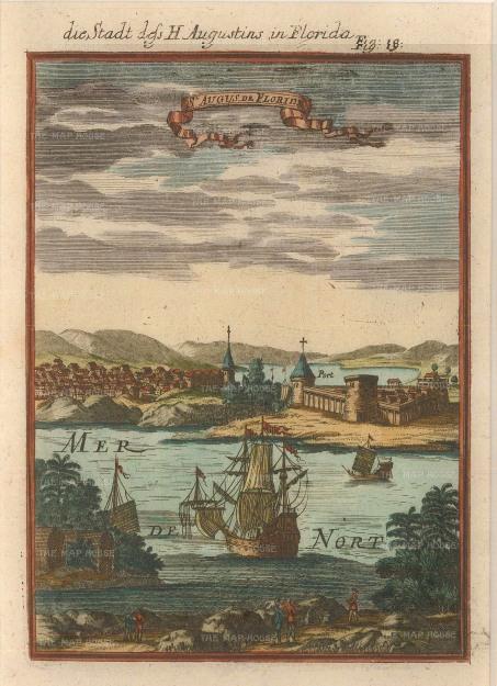 Mallet: St. Augustine, Florida. 1719. [USAp3669w
