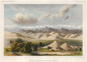 Sierra Nevada Mountains: View of Mount Whitney from Four Creeks Visalia.