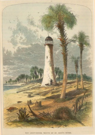 Picturesque America: Florida. 1876. A hand coloured original antique wood engraving. [USAp4314]