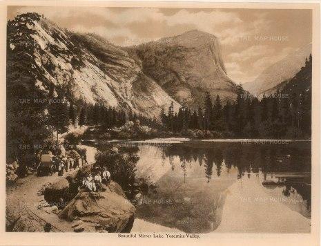 "Anon: Mirror Lake, Yosemite Valley. c1910. An original antique photogravure. 8"" x 6"". [USAp4608]"