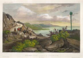 Vaillant: Kealakekua Bay, Hawaii. Circa 1850. A hand-coloured original antique lithograph. 13 x 10 inches. [USAp4626]