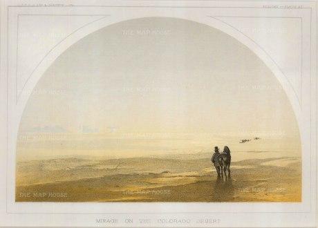 "USPRR: Colorado Desert. 1857. An original colour antique lithograph. 9"" x 6"". [USAp4769]"