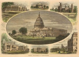 SOLD Washington DC: Capitol, White House, Treasury, Smithsonian, City Hall.