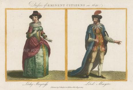 Eminent Citizens in 1640: Mayor & Mayoress.
