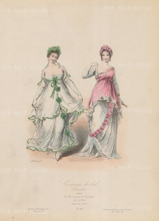Ball dresses from 1813.
