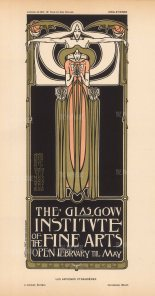 Glasgow Institute of the Fine Arts:Designed by Herbert McNair, Margaret and Francis MacDonald who with Charles Rennie MacIntosh were known as 'The Four' of Scottish Art Nouveau.