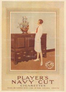 "Punch: Player's Navy Cut. 1928. An original vintage chromolithograph. 8"" x 10"". [DECp2071]"