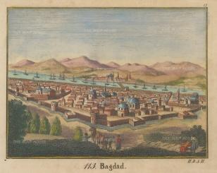 Baghdad, Iraq: Bird's eye view towards the Tigris River.