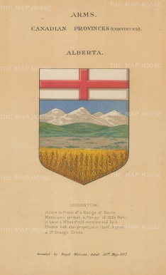 Province of Alberta. Arms for the territory with description below.