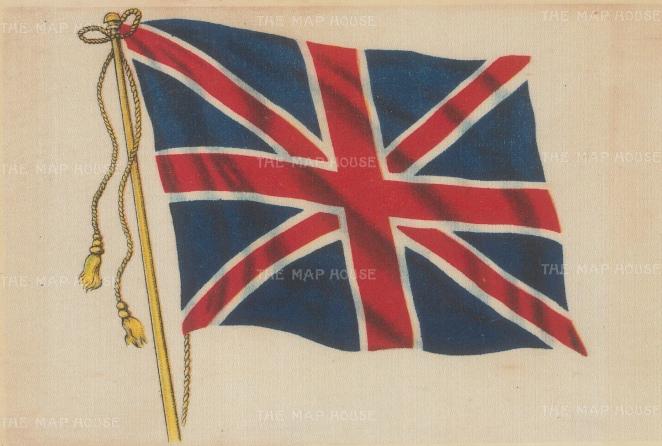 "SOLD. B.D.V. Cigarettes: Union Jack. 1926. A original vintage print on silk. 6"" x 4"". [MISCp5318]"