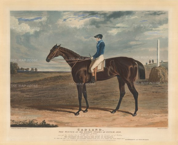 Cadland: The Winner of the Derby Stakes at Epsom with his jockey James Robinson whose record at Epsom was not bested until nearly 150 years later by Lester Piggott.